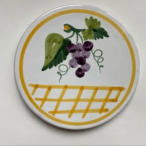 PG Italy Lord and Taylor Grapevine Ceramic Trivet